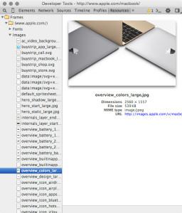 Chromeのデベロッパーツールを